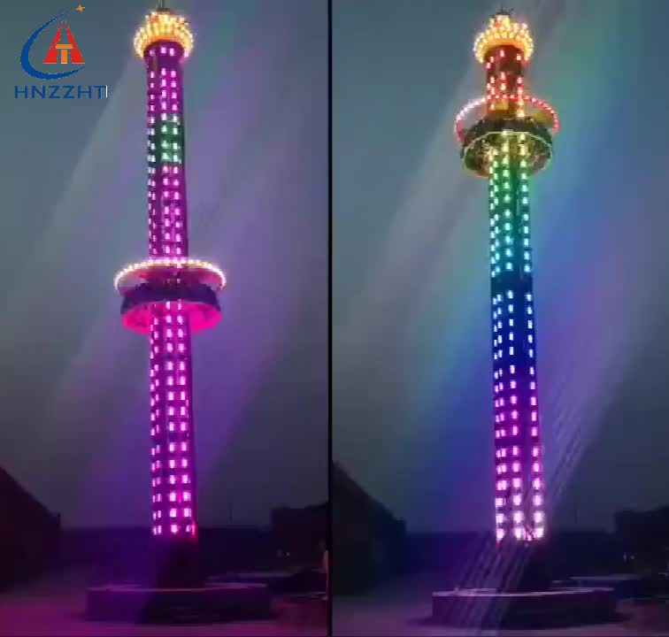 amusement theme luna park thrilling ride drop tower rides factory directly selling factory price big rides for sale
