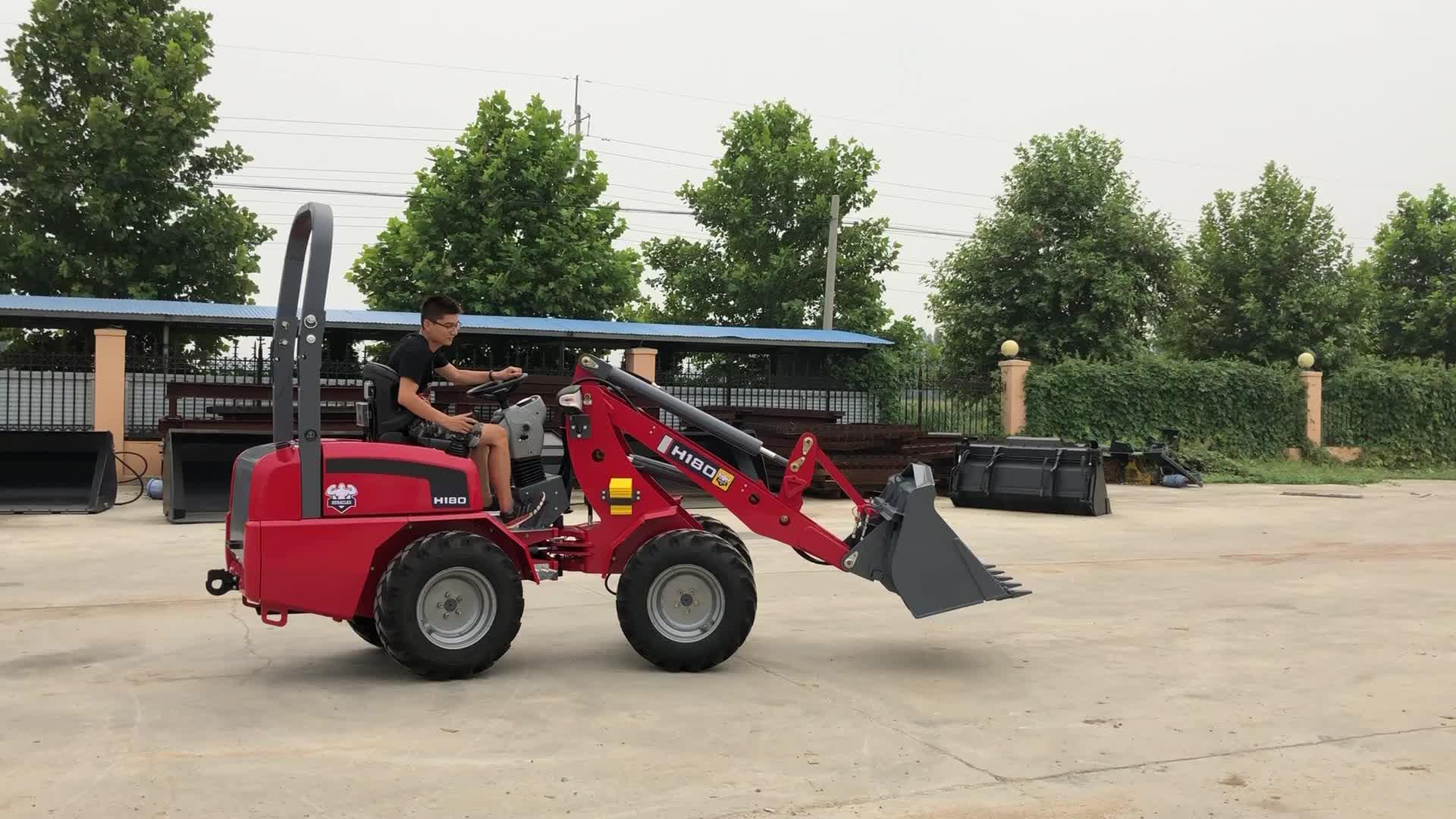 Eracle Cina idrostatica sistema mini piccolo articolato 800kg/600kg pala gommata con Yanma r motore per la vendita