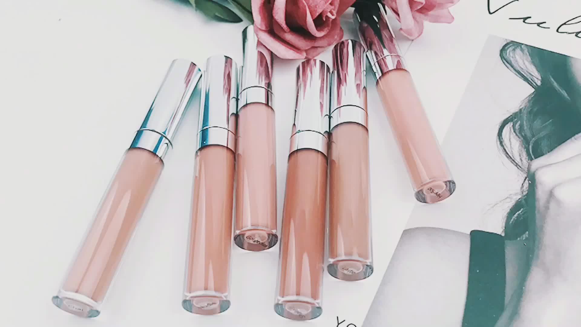 Wholesale cruelty free fashion color nude matte lipstick velvet liquid lipstick private label