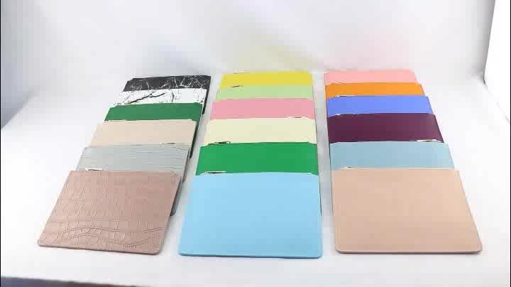 Fashion handmade pu saffiano leather womens zipper pouch