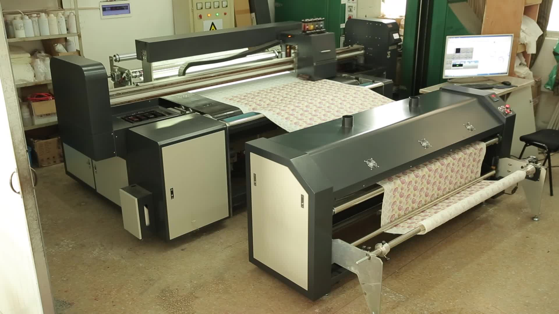 Direct To All Fabric Sublimation Printing Machine Belt Type Digital Textile Printer