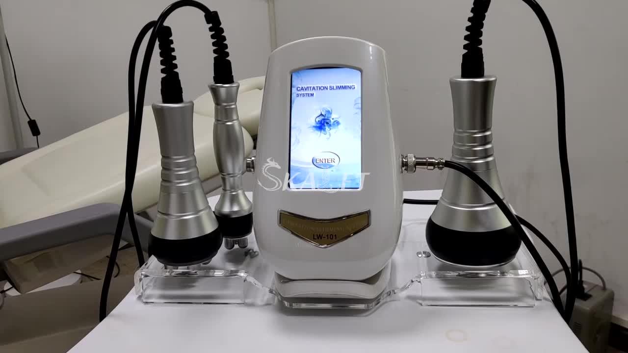 2019 ultrasonik terapi makinesi vakum rf 4d kavitasyon taşınabilir 3 in 1 soyma ekipmanı 40k çok kutuplu kavitasyon ekipmanları