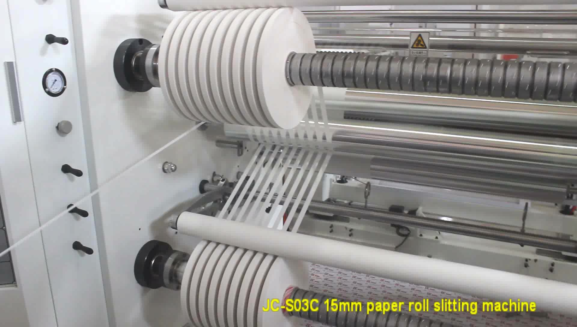 China made high precision label and paper rolls cutting machine