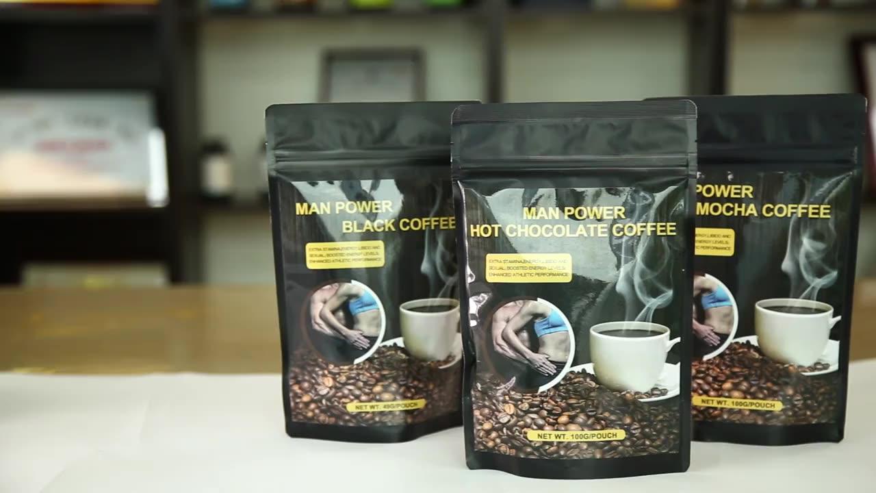 Extrait de café instantané pour hommes, tongali, puissance sexuelle ganoderma, 1 pièce