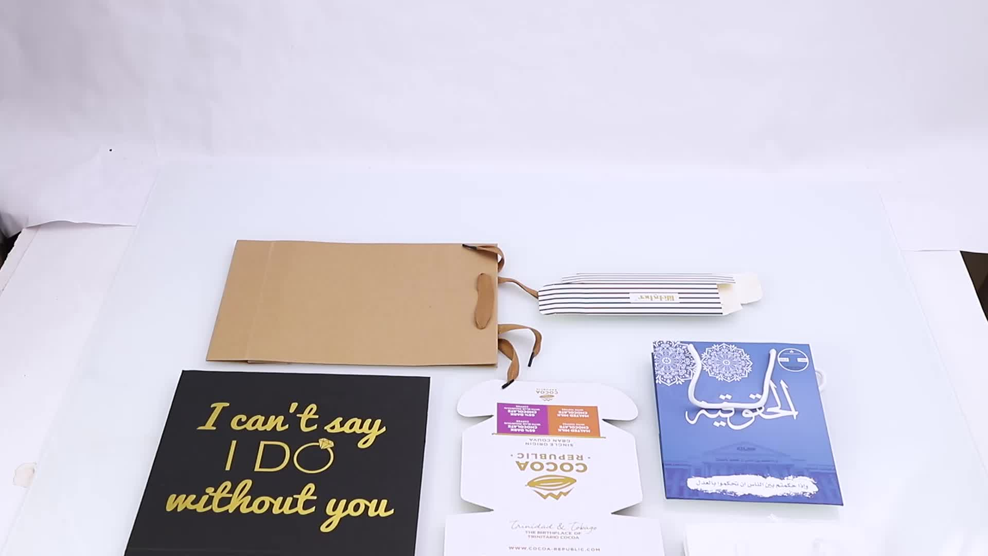 Customized Small Logo Printed Brown Kraft Paper Box With Window