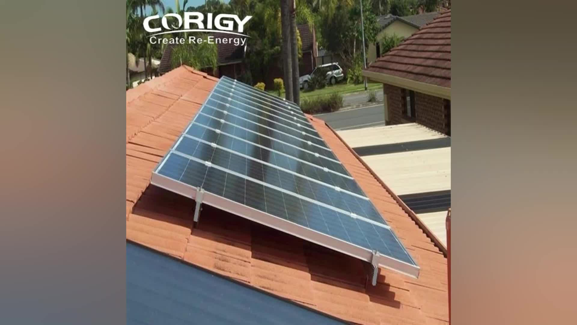 New Design Pitch Tile Roof Solar Energy Photovoltaic Panel