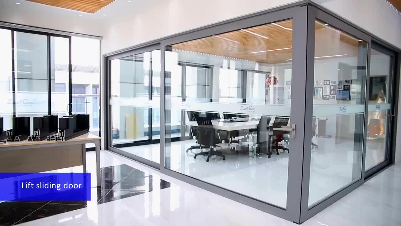 AAMA certified/NFRC certified used aluminium sliding glass doors with High acoustic values for sale