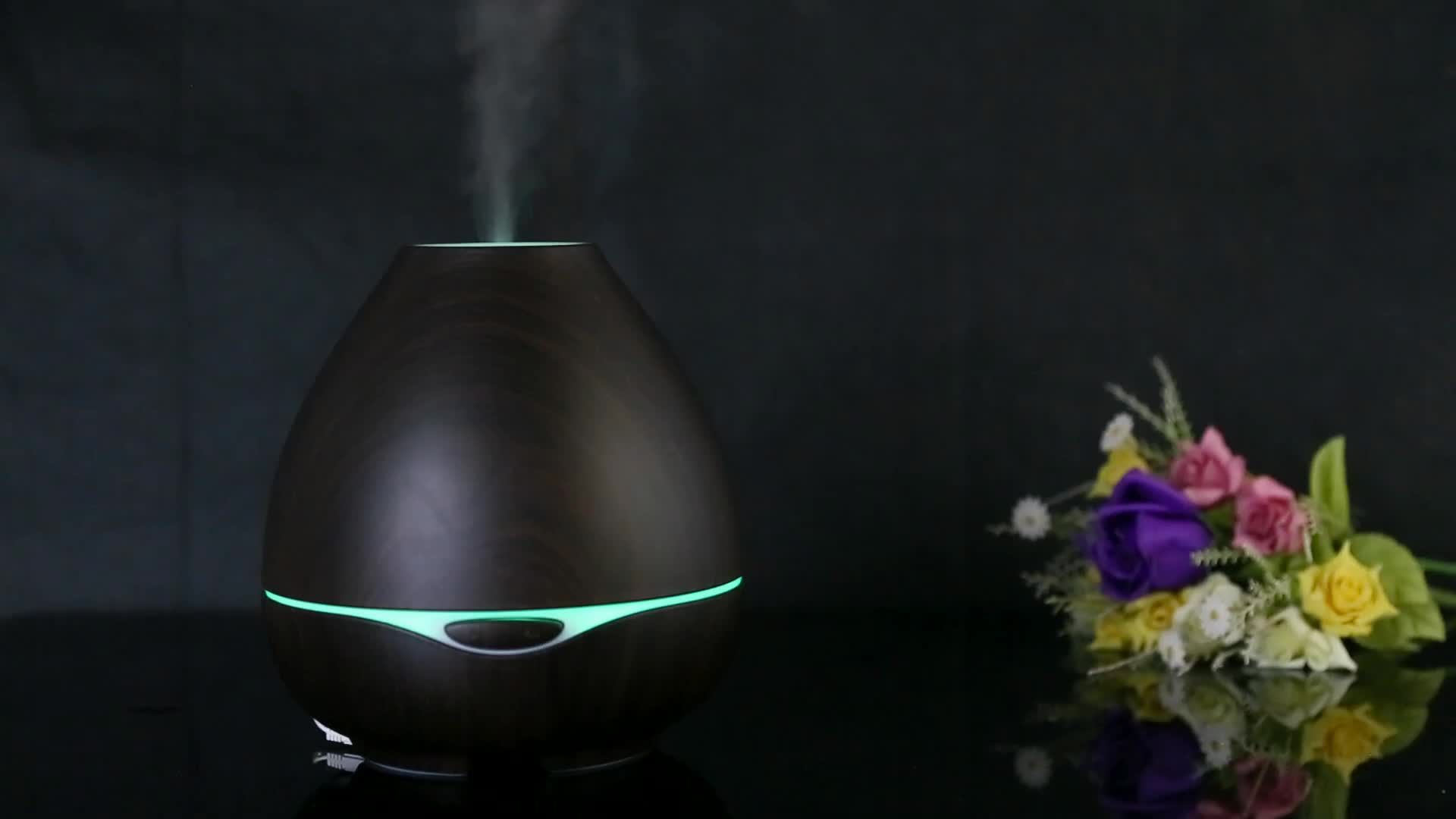 Best Seller Aromacare 300ml Wood Grain Olive Oil Diffuser Humidifier