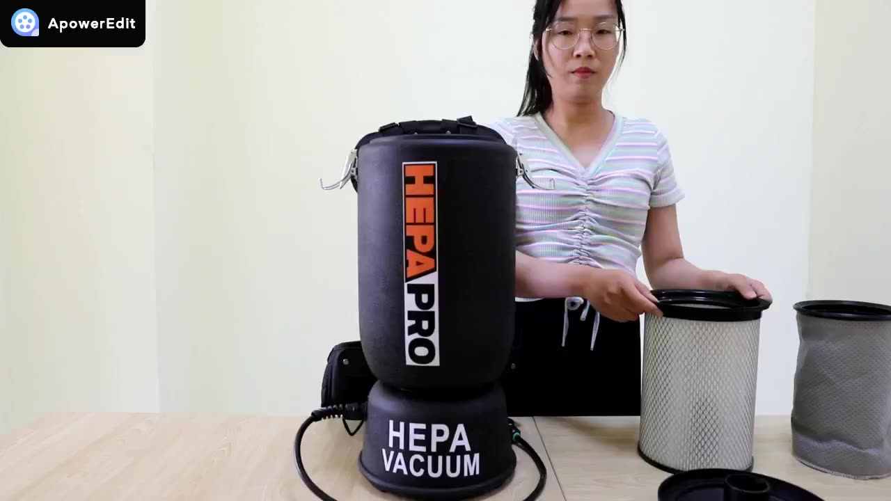 Factory direct sales hepa backpack vacuum cleaner cordless light commercial with strong suction