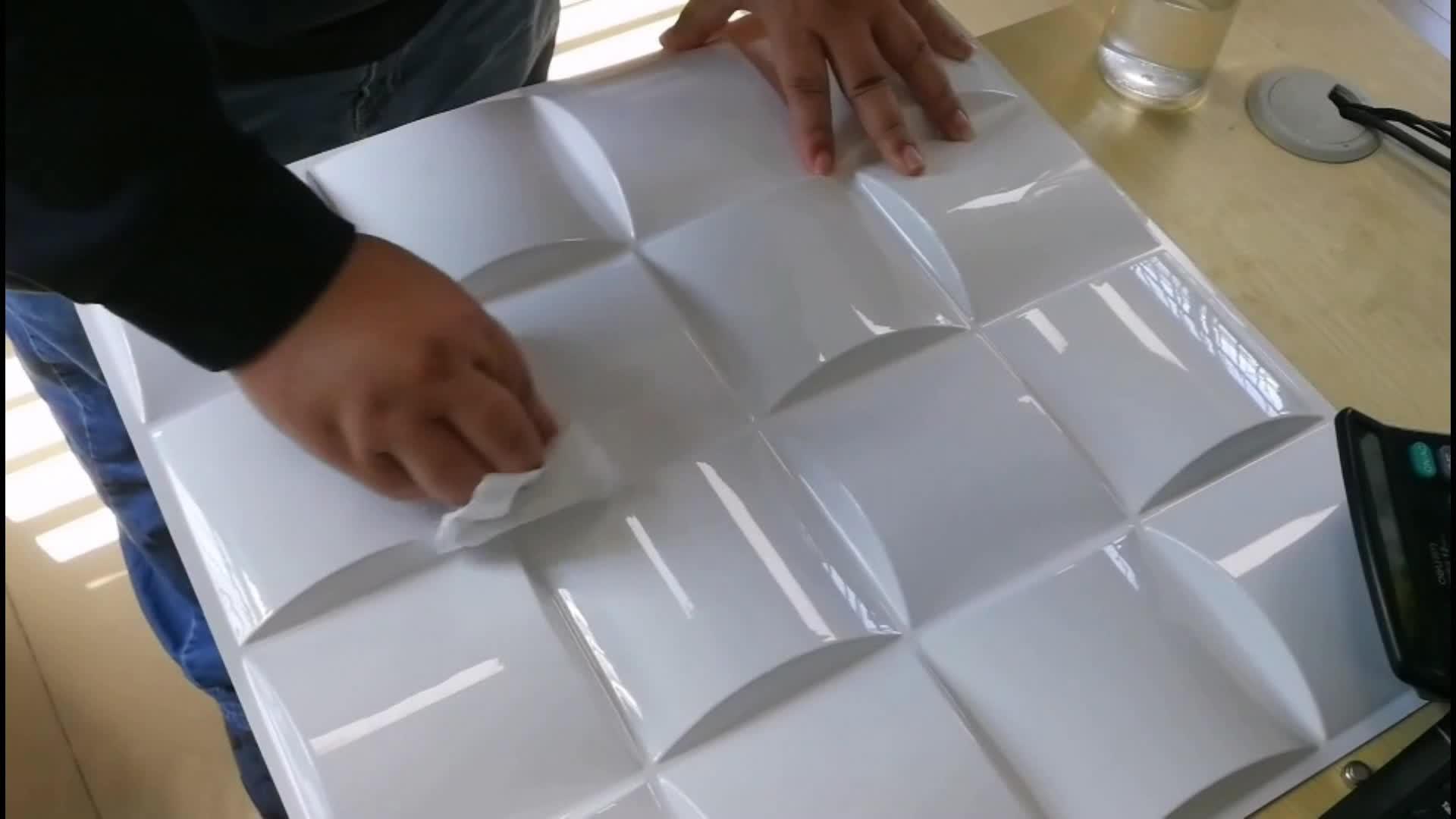 高品質 PVC 3D 壁装材パネルインテリア