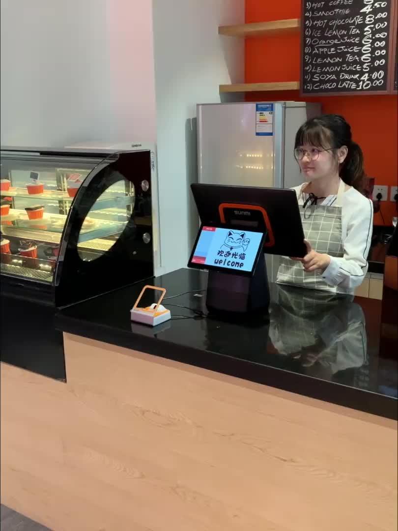 SUNMI T2 15.6 inç hepsi bir arada dokunmatik ekran Android akıllı POS ile yazıcı çin POS makineleri