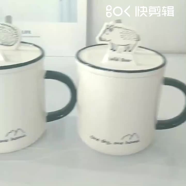 Zogifts Wholesale Manufacturing Factory Price hand-painted 3d animal shaped ceramic coffee mug