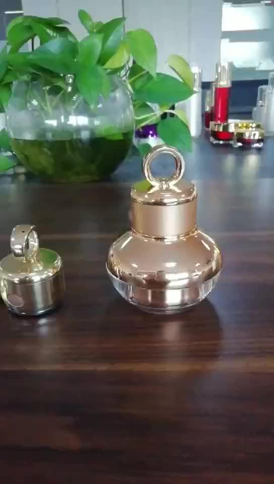 อะคริลิคหรูหราพลาสติกคอนเทนเนอร์สำหรับครีม jar เครื่องสำอางค์ไฟฟ้าหัวสั่นสะเทือนเครื่องนวด