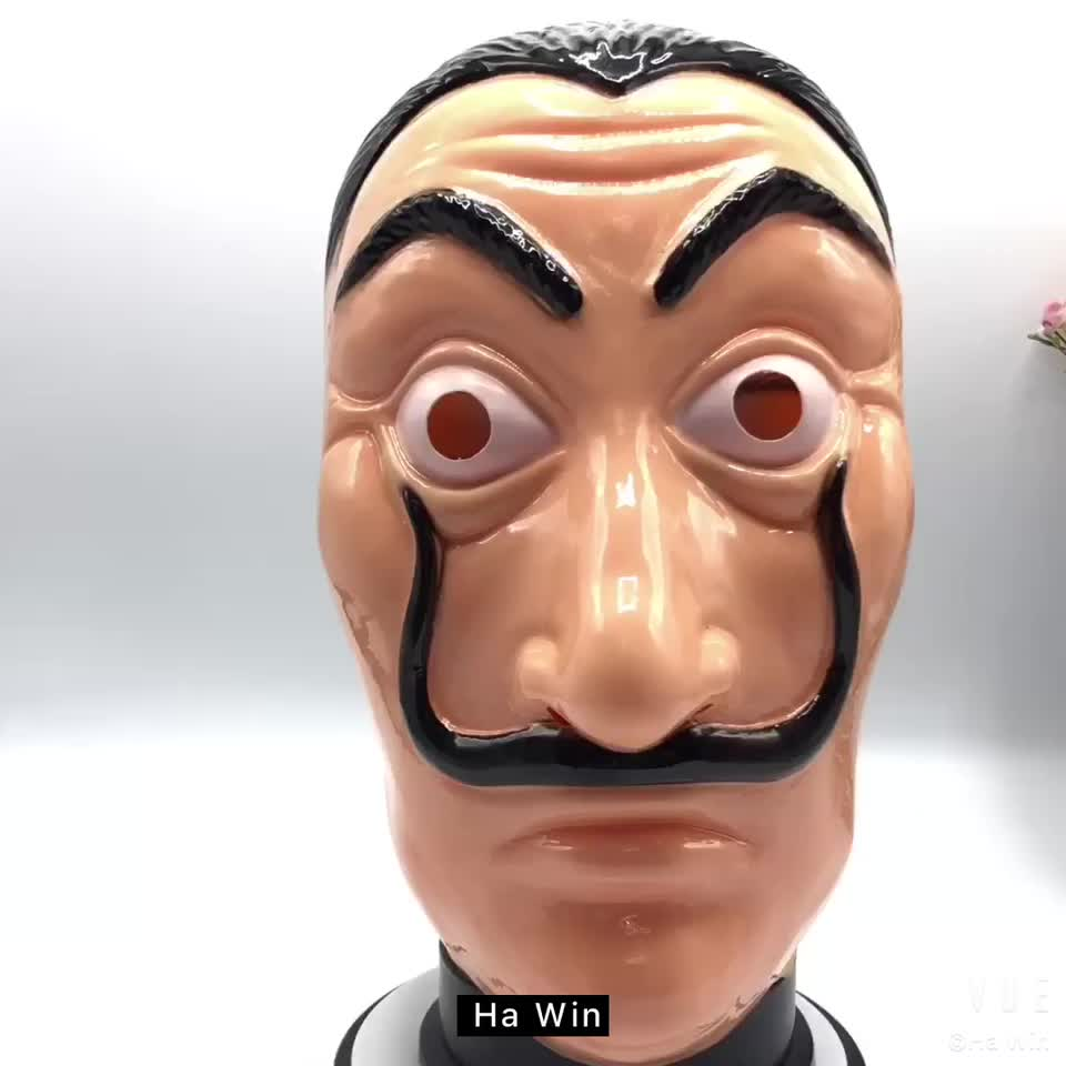 new style factory wholesale pvc salvador dali mask film cosplay party masks salvador dali mask. Black Bedroom Furniture Sets. Home Design Ideas