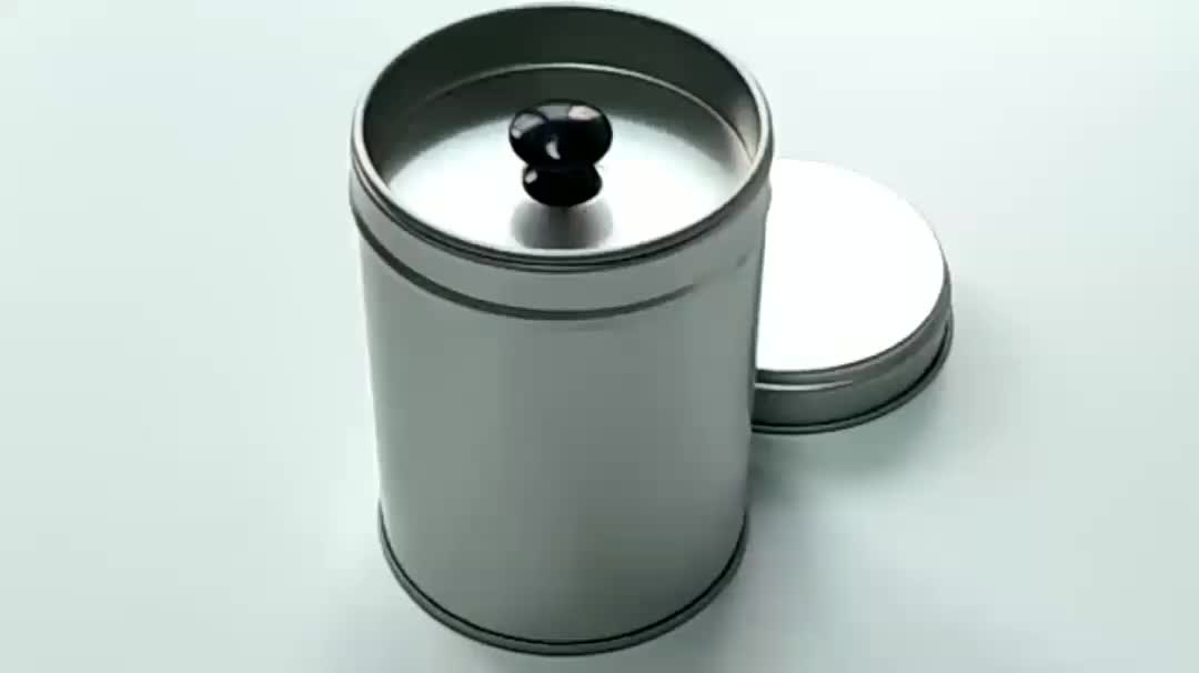 retail plain round tins with inner lid