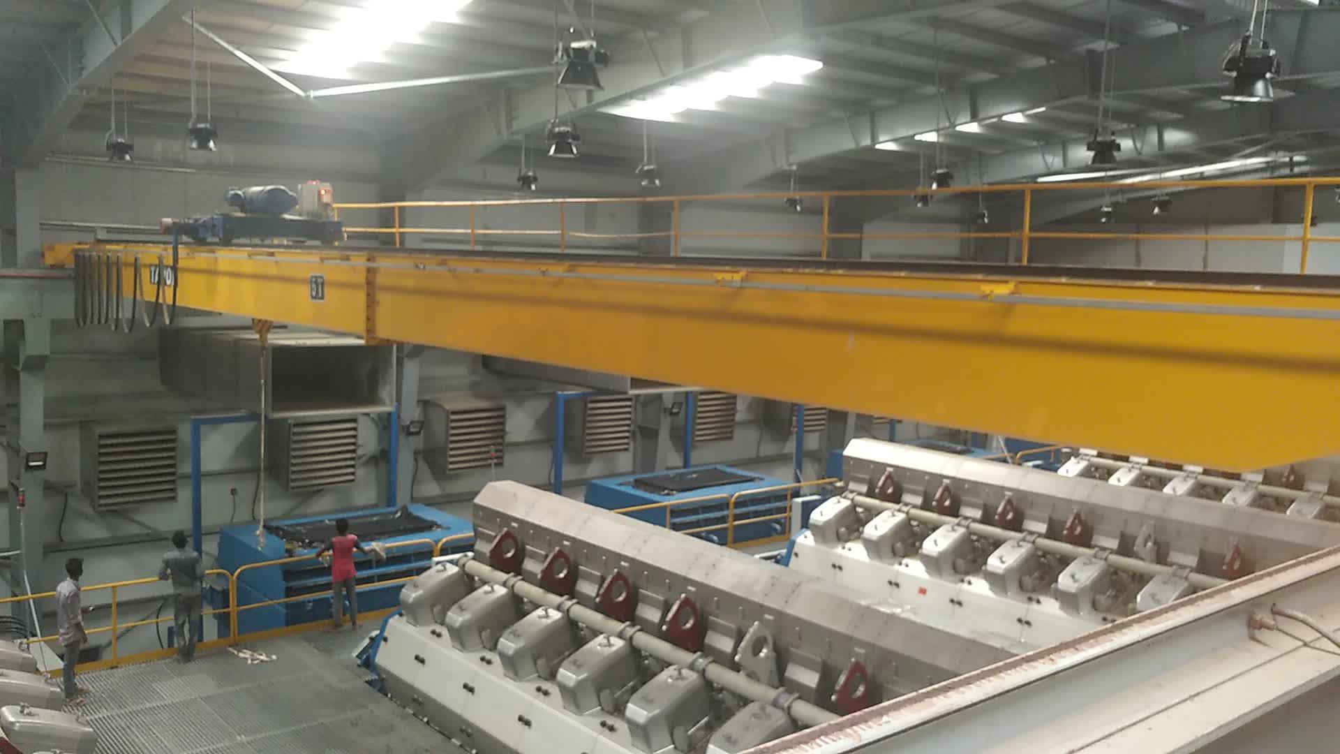 Indústria em geral 380 v elétrica 10 t 20 t 30 t 50 t levantamento viga dupla ponte rolante sobrecarga preço