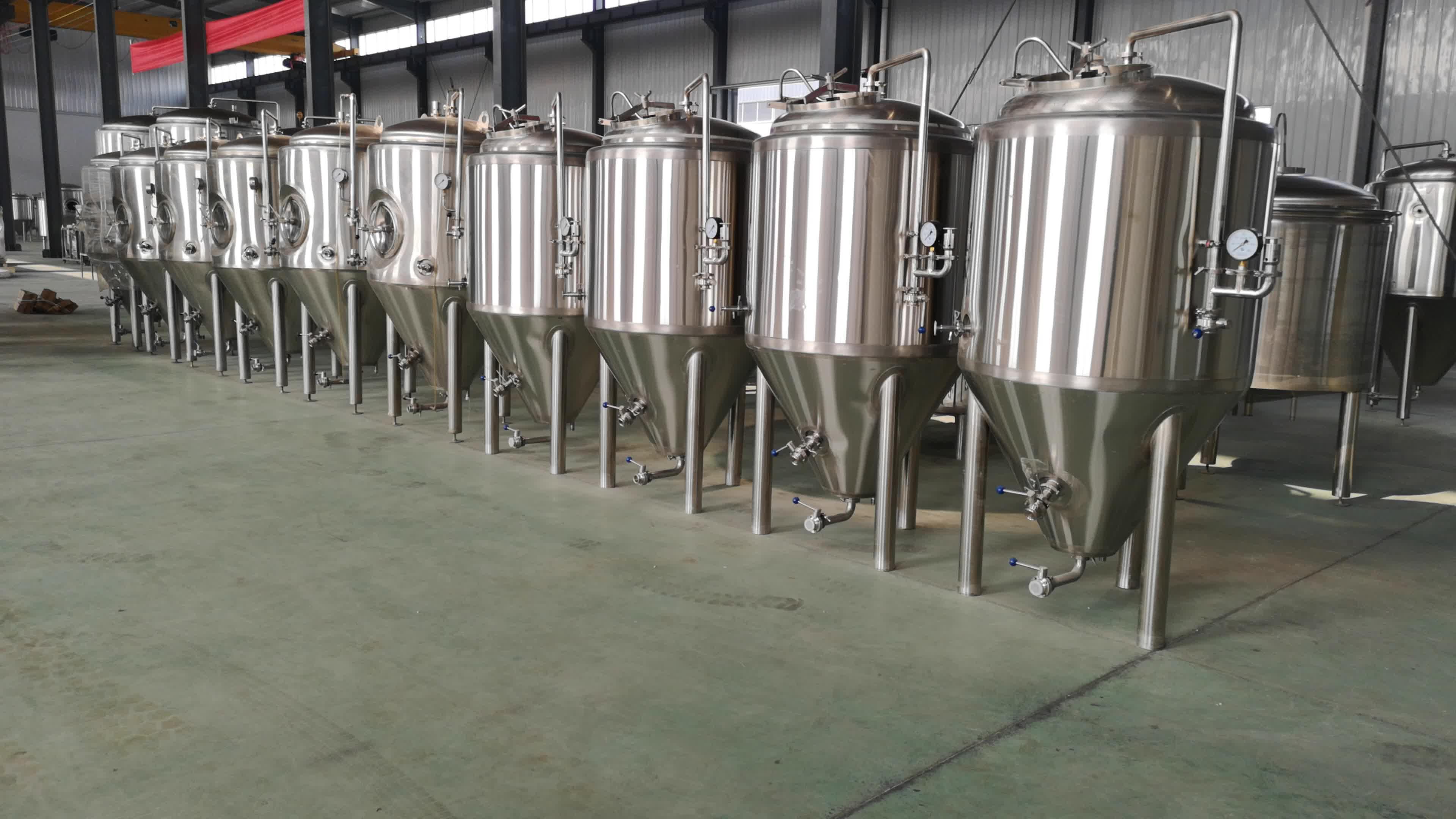 Beer Conical Fermenter Fermentation Tank with Details 100L 200L 300L 500L 1000L
