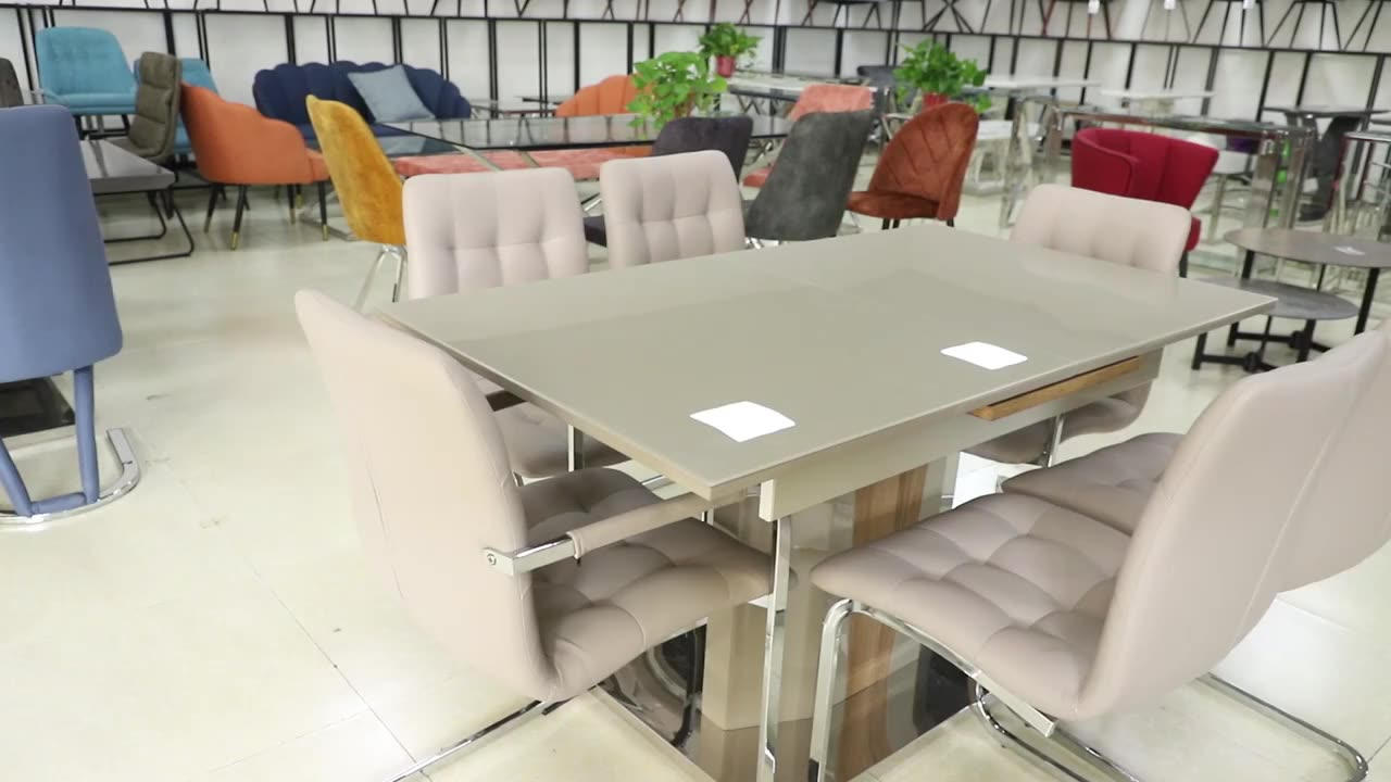Modern Luxury design MDF top dining 6 chairs table set dining room furniture table and chairs for dining room
