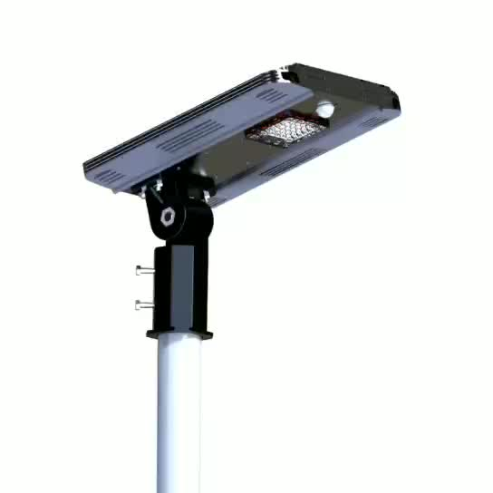 Pole Mounted Installation Style LED Light Source Solar Charged Lights All in One with 3 Years Warranty
