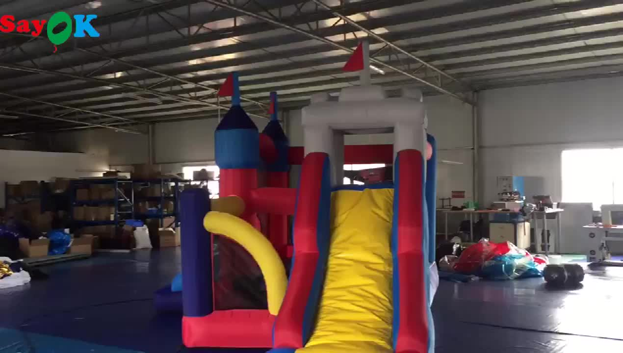 2019 indoor inflatable bouncer house with slide for kids