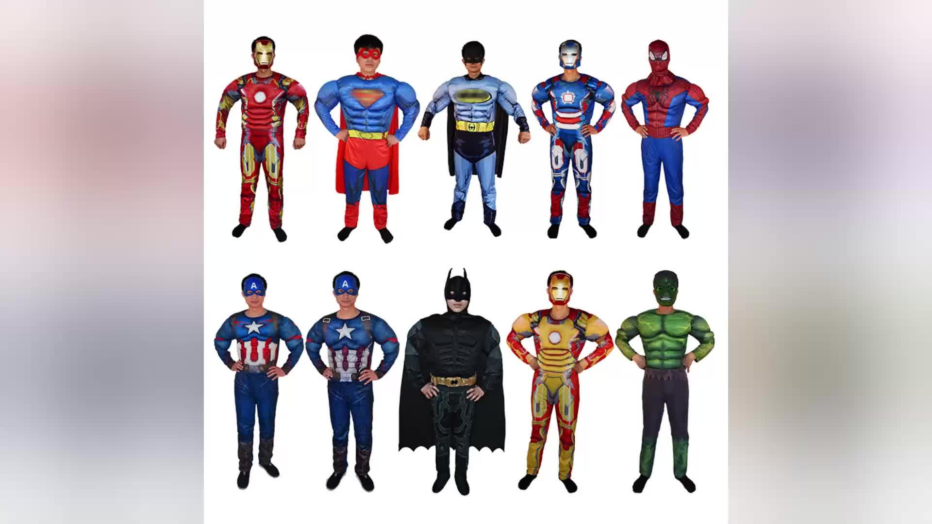 Halloween Costumi di Cosplay del Anime Personaggi del Film Vestire Supereroe Adulto Costumi