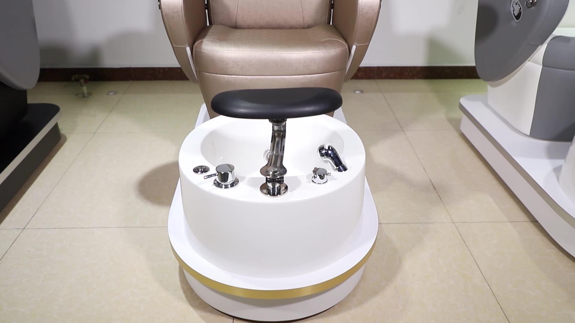 Luxury Modern ราคาถูกความงามเล็บ Salon เฟอร์นิเจอร์เก้าอี้หมุน Pipeless Whirlpool เท้าสปานวดเท้าเก้าอี้