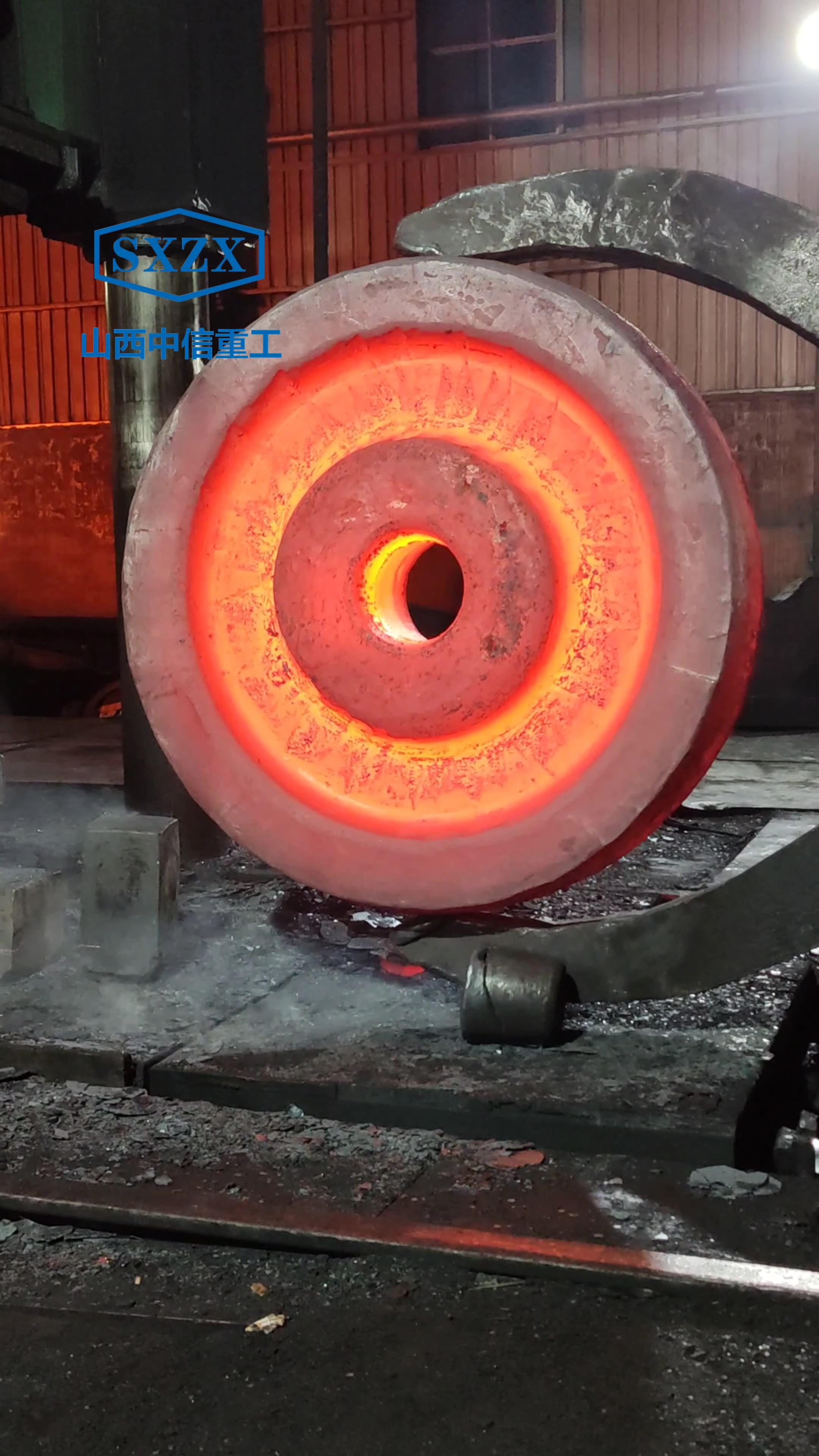 锻造车轮毛坯锻件 45#钢 55#钢 60#钢 70#钢锻钢车轮数控机械加工