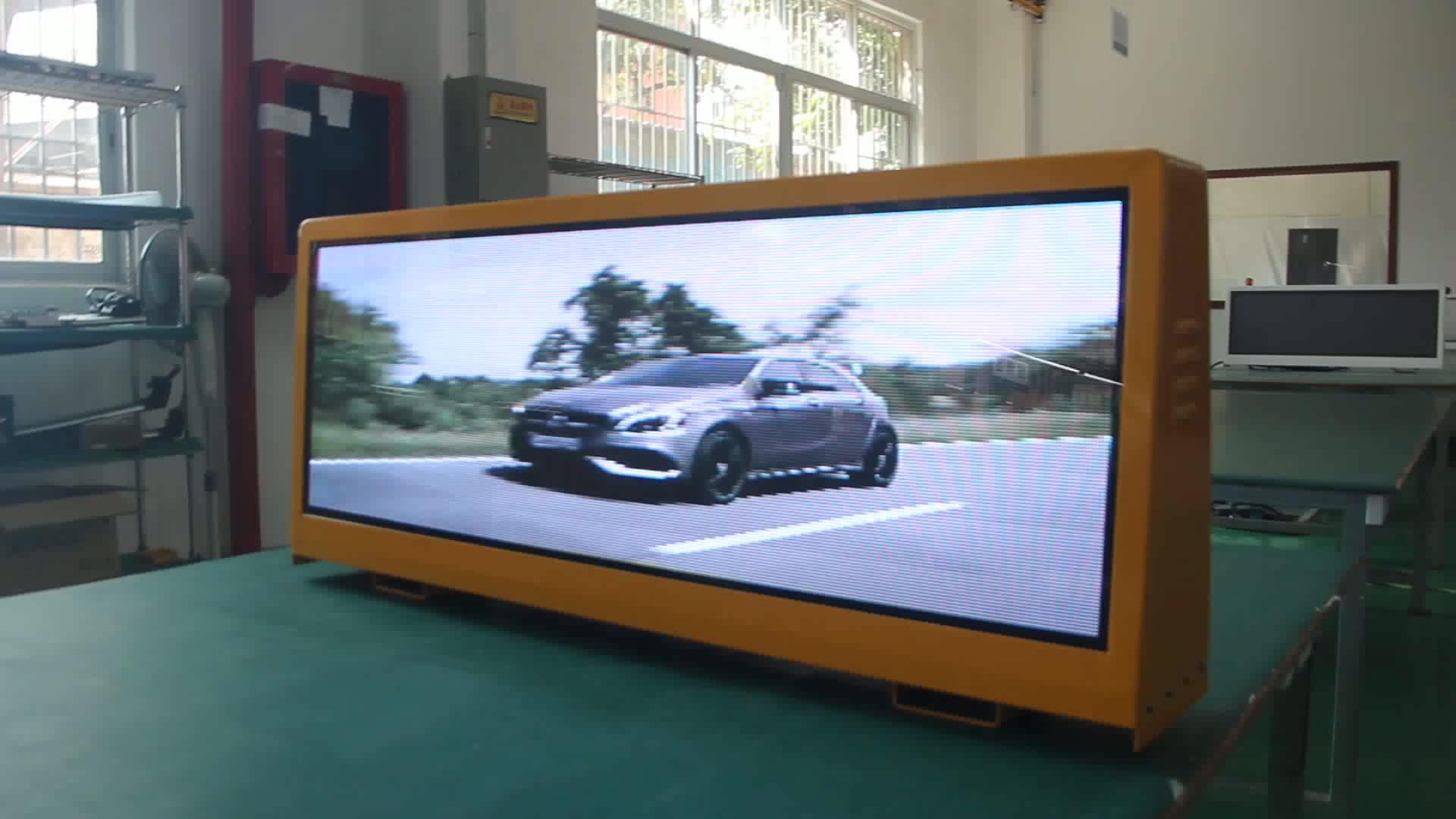 LED-Taxi-Dach LED 4G WiFi führte Anzeige / geführte Bildschirmautowerbung / Digital-Taxi-Spitzenwerbungszeichen