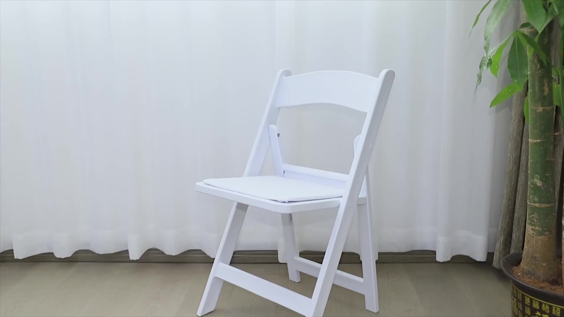 resin slat seat folding chair for outdoor Ultra strong PP