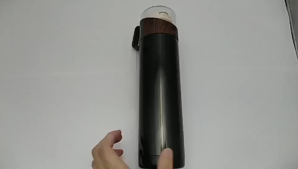 Stainless steel vacuum water bottle transparent cover with portable water cup metal water bottle