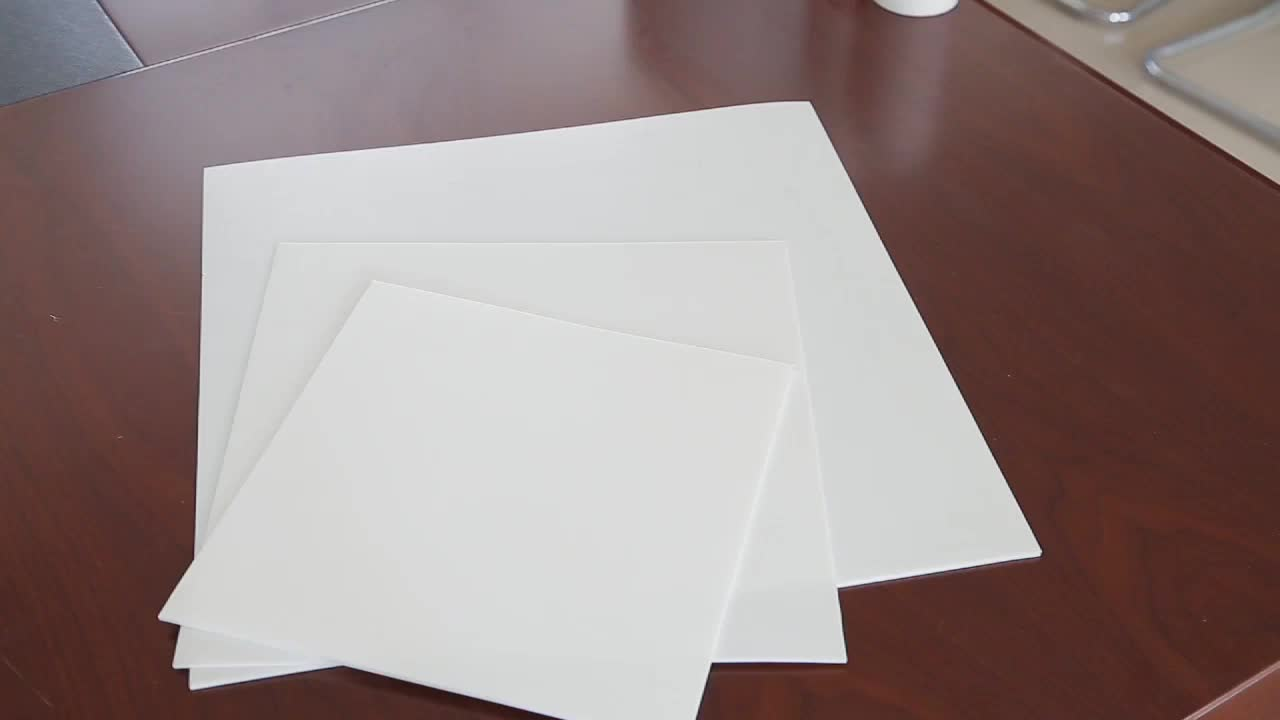 Pure White color PTFE teflon moulded sheet customize thickness width length
