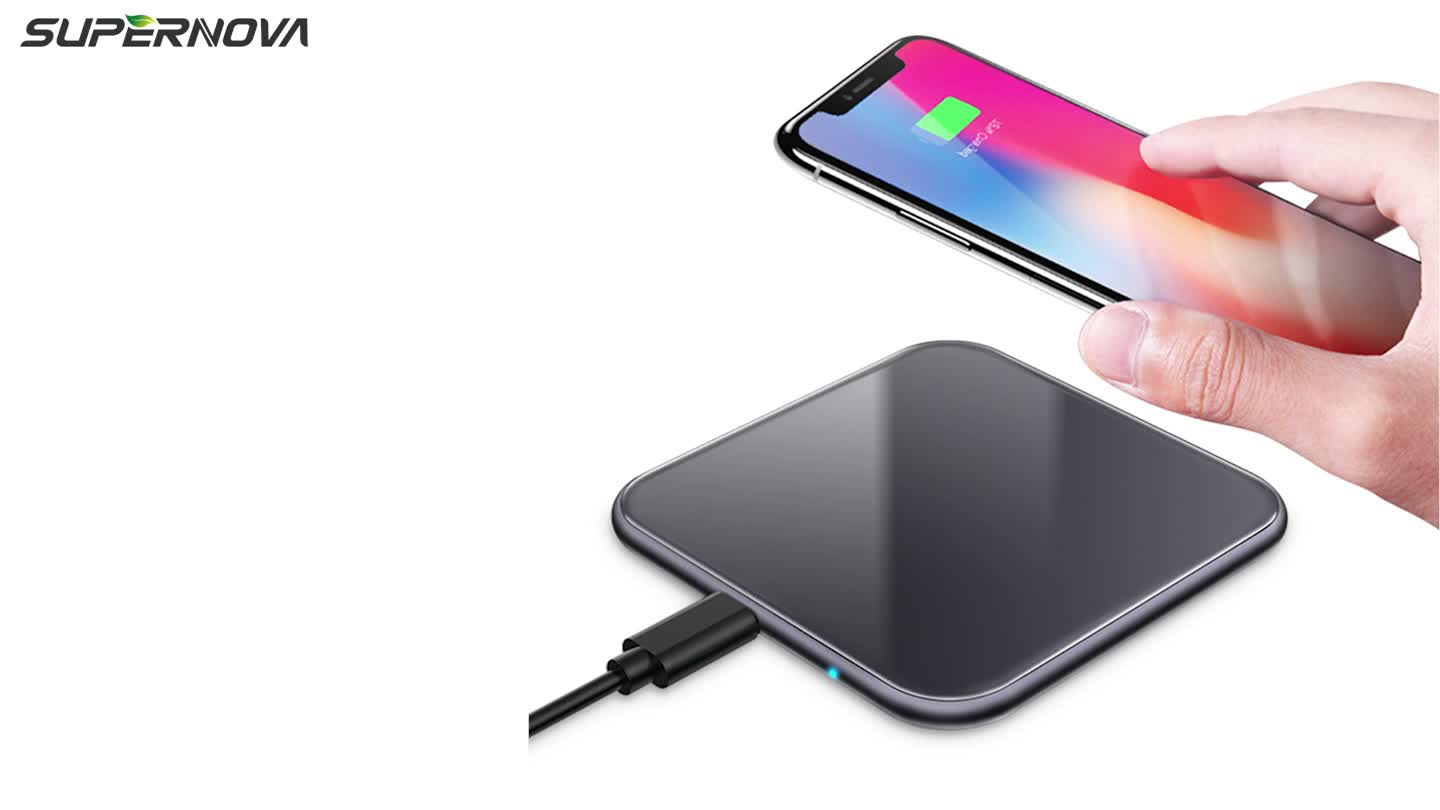 Square Design Charger Wireless 10W 7.5W 15W Mobile Phone Fast Charging For IPhone For Android Wireless