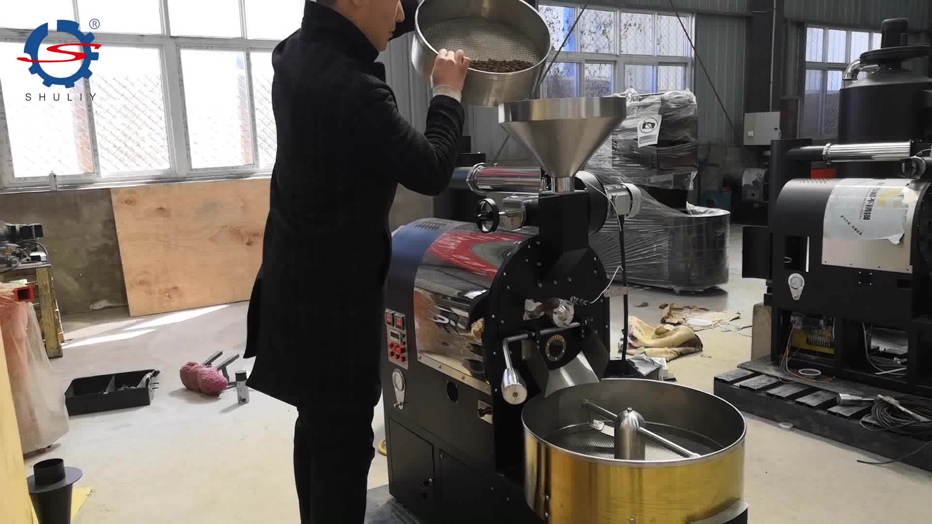 1kg coffee bean roasting machine / drum coffee roaster for Home & Small Cafe