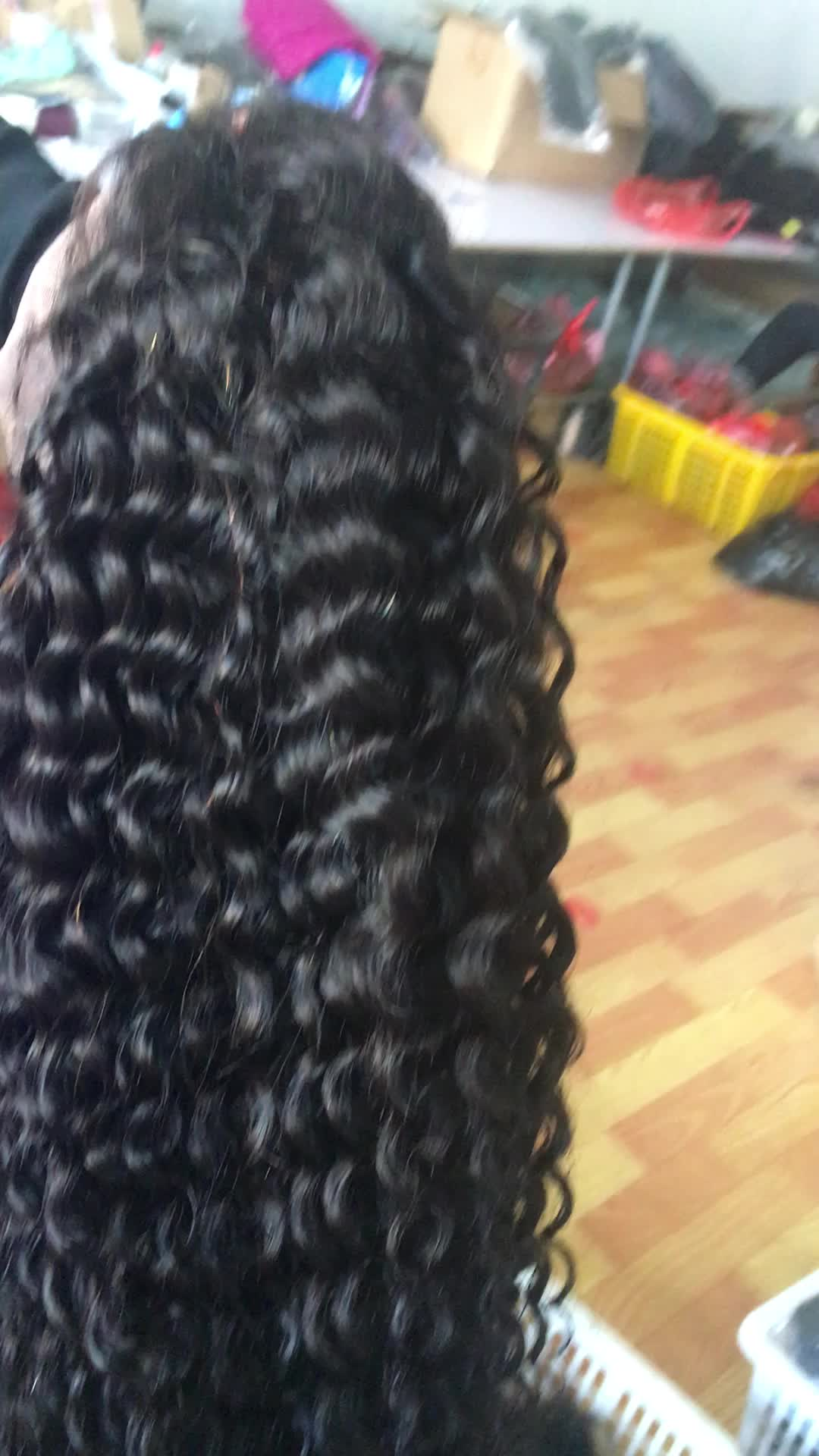 Factory Afro Curly Brazilian Frontal Wigs 100% Virgin Human Hair Lace Front Wigs For Black Women With Baby Hair