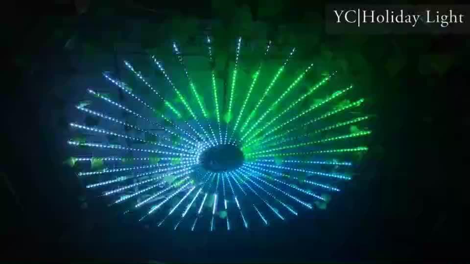 80cm 100cm outdoor christmas tree rain tube dmx rgb solar led meteor shower light