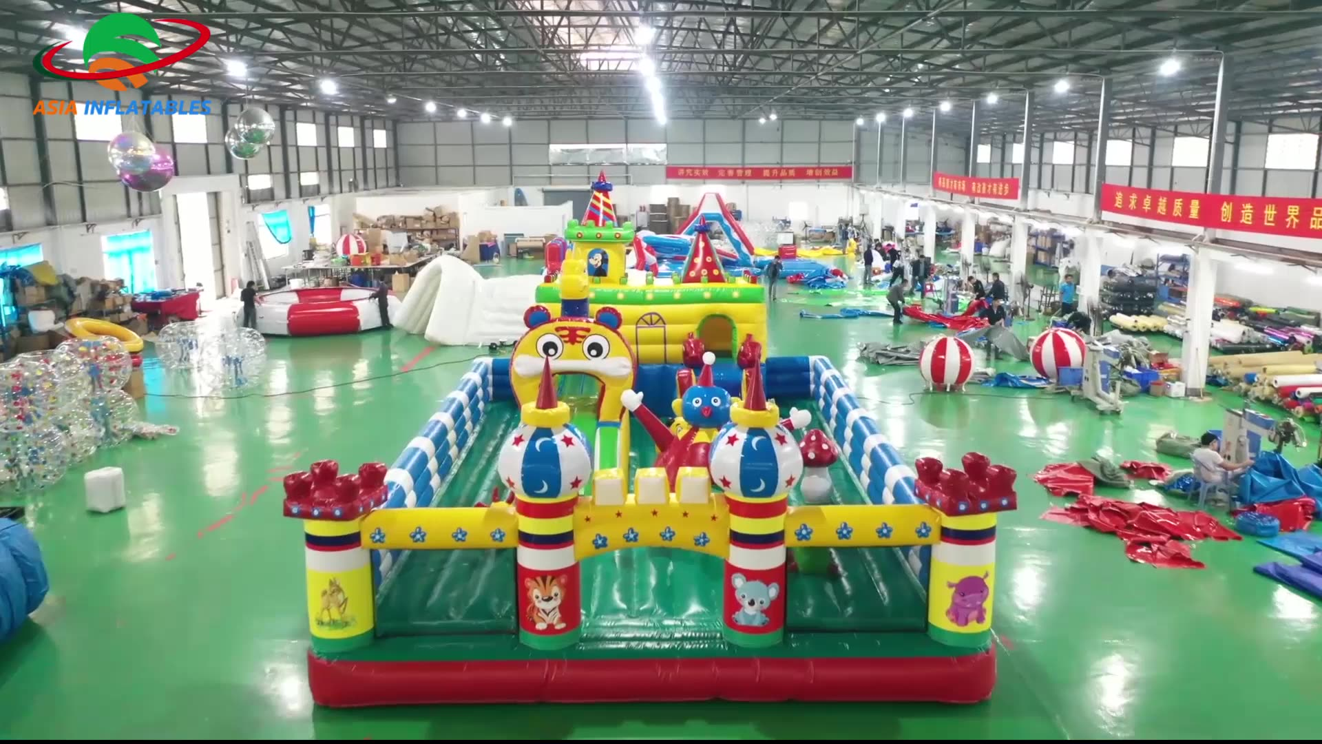Inflatable Amusement Park / Giant Inflatable Pirates Playground Park