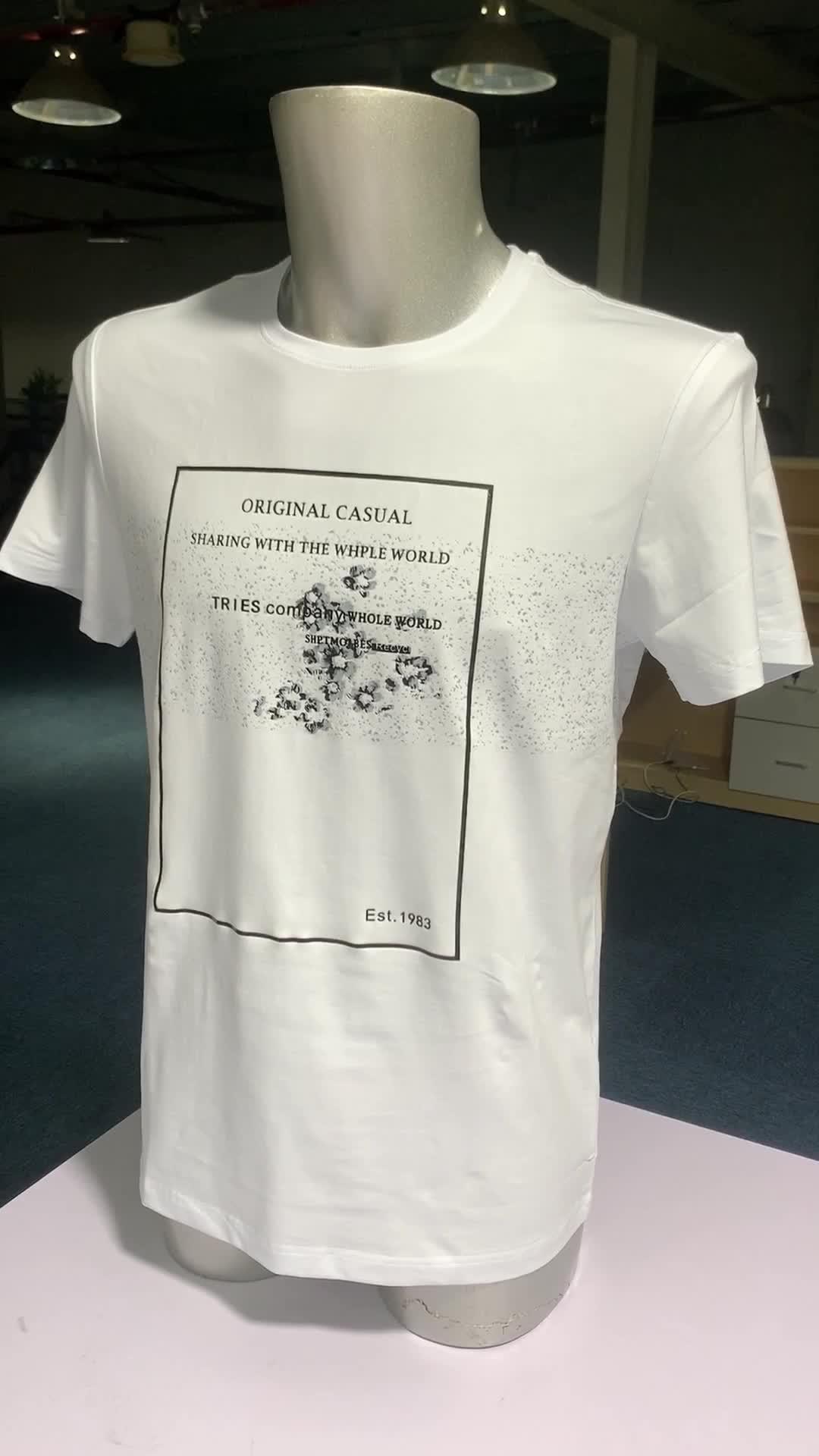 100% Cotton Men T Shirt เสื้อจีนโรงงาน