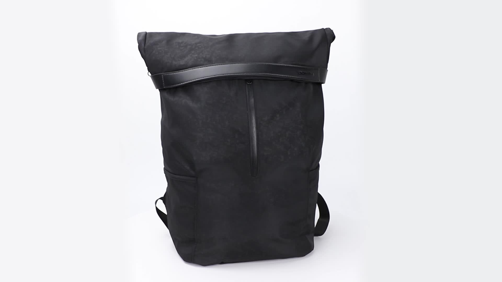 men Waxed Canvas leather roll top backpack mens rolltop backpack provide customized service