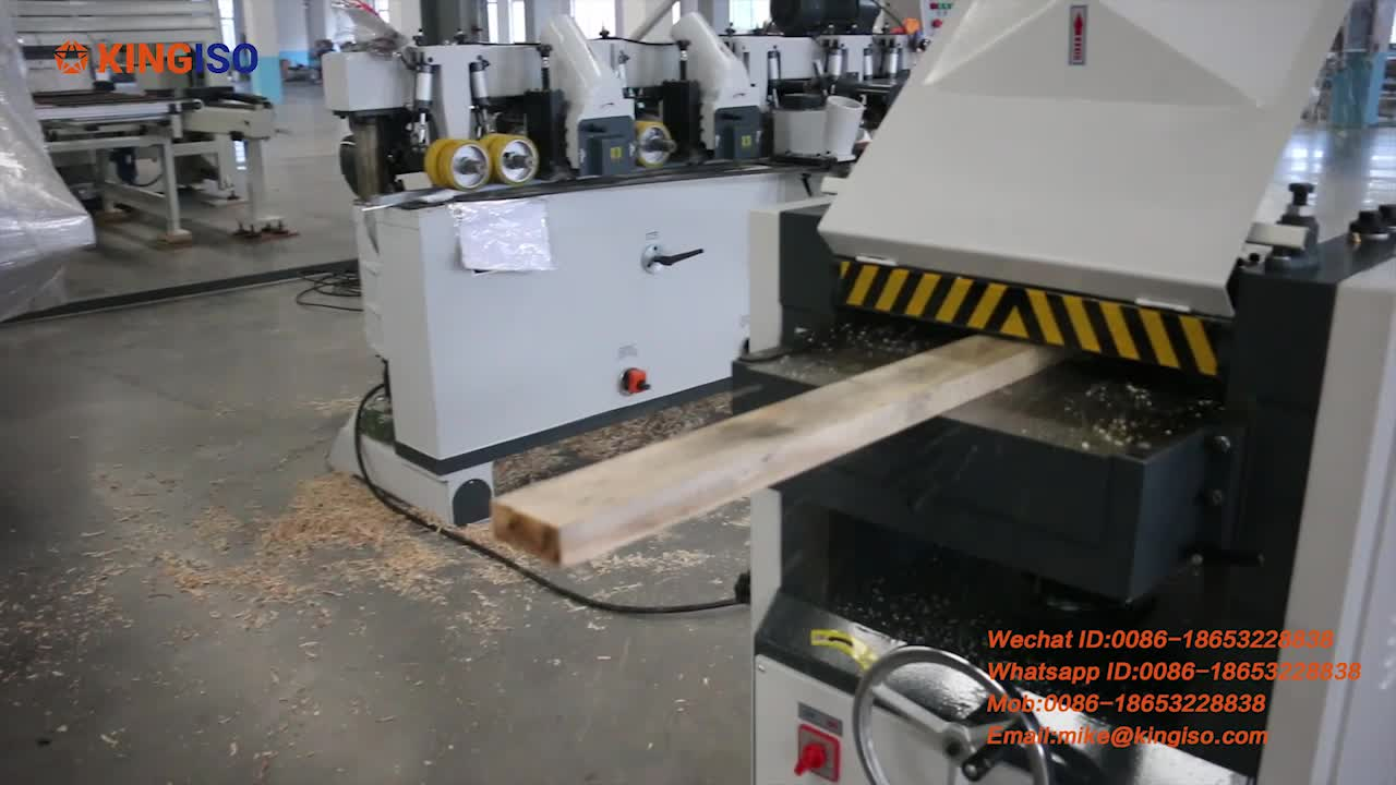 Popular double-side wood working thicknessing planer MB203C