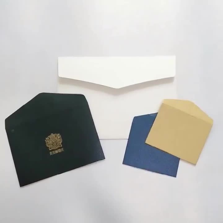 Customized size hot stamping envelope with your logo print manufacturer