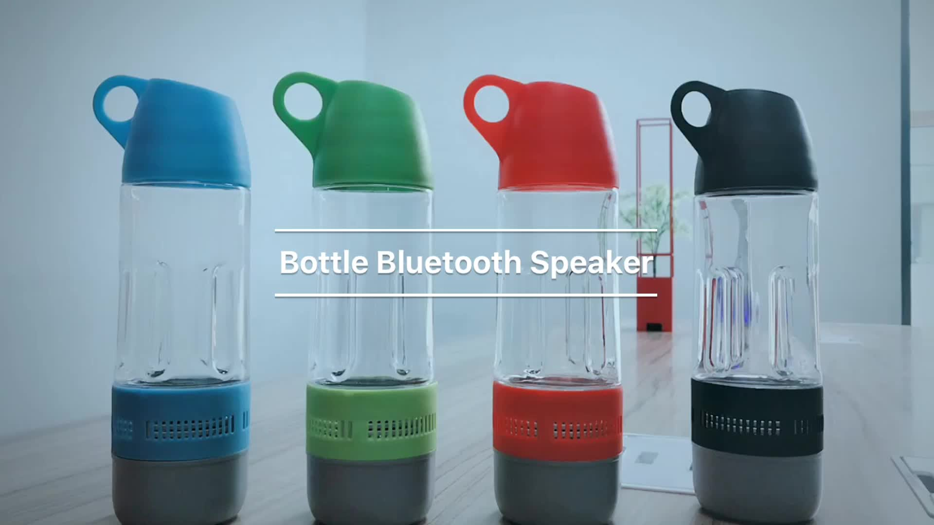 Großhandel 2 in 1 wasserflasche drahtlose bluetooth lautsprecher outdoor tragbare wasserdicht