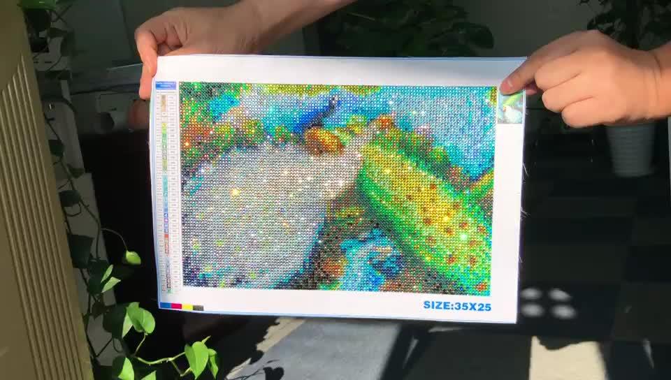 Pintura completa do mosaico do Needlework do ponto da cruz da pintura do diamante de 5D DIY