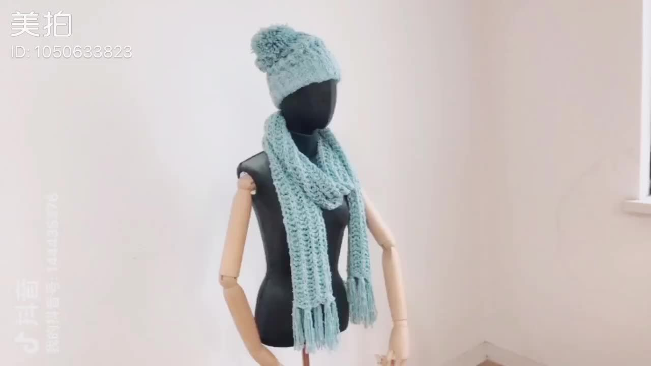 Fashion Long Chunky Hand-Knit knitted Cable Scarf Super Soft Cashmere Feel Classic Solid Color winter Scarf