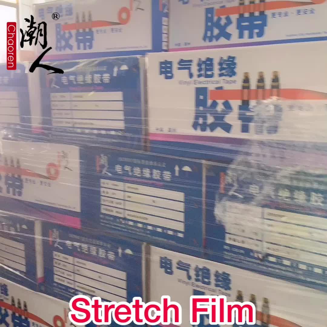Fabrik Versorgung PE Film Palette Schrumpfen Polyethylen Hoher Dichte Transparent LLDPE Stretch Wrap Film