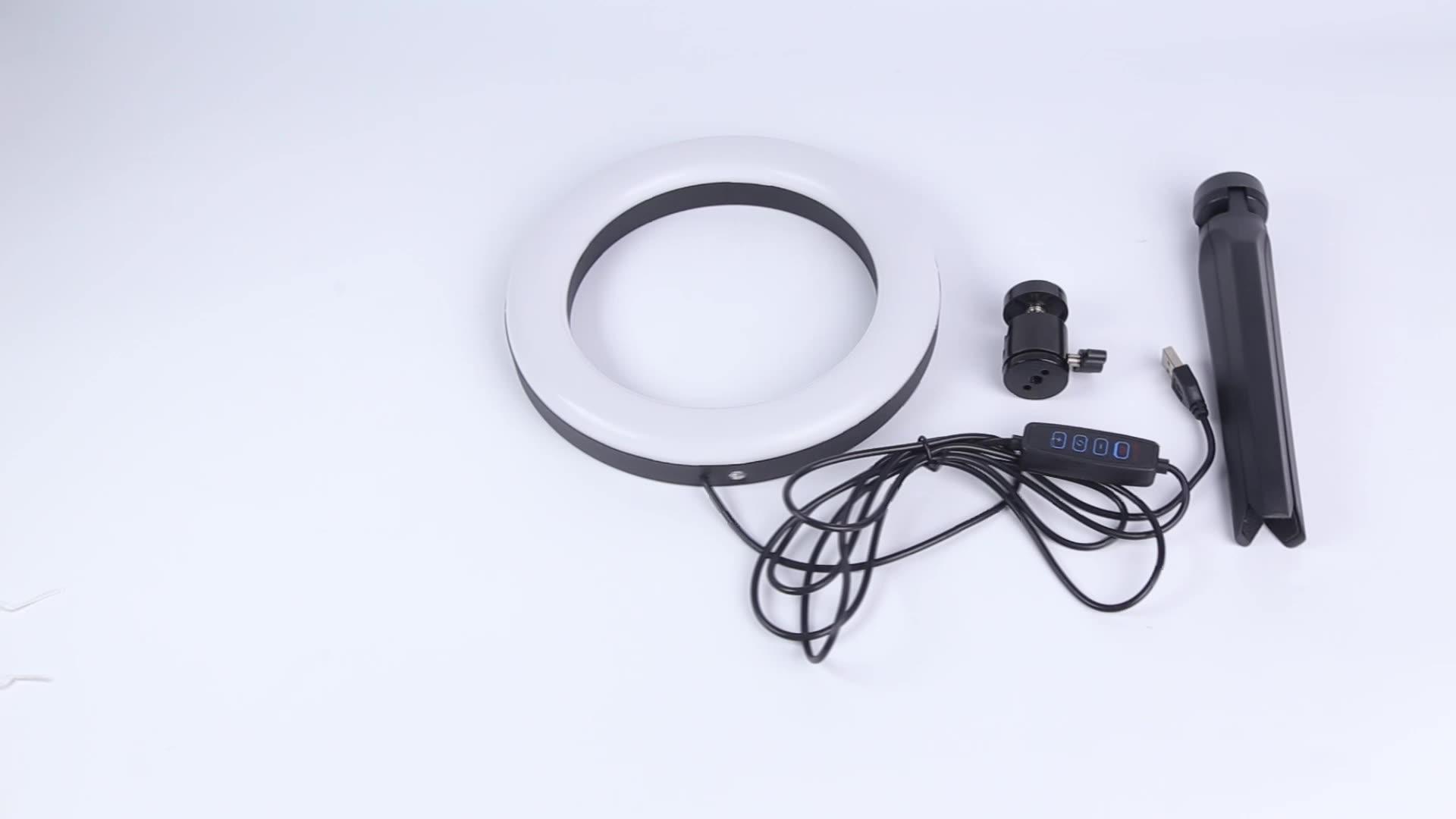 Keyson 10 pollici a led anello di luce con il basamento selfie anello di luce con il supporto del telefono treppiede con anello di luce Per Live flusso