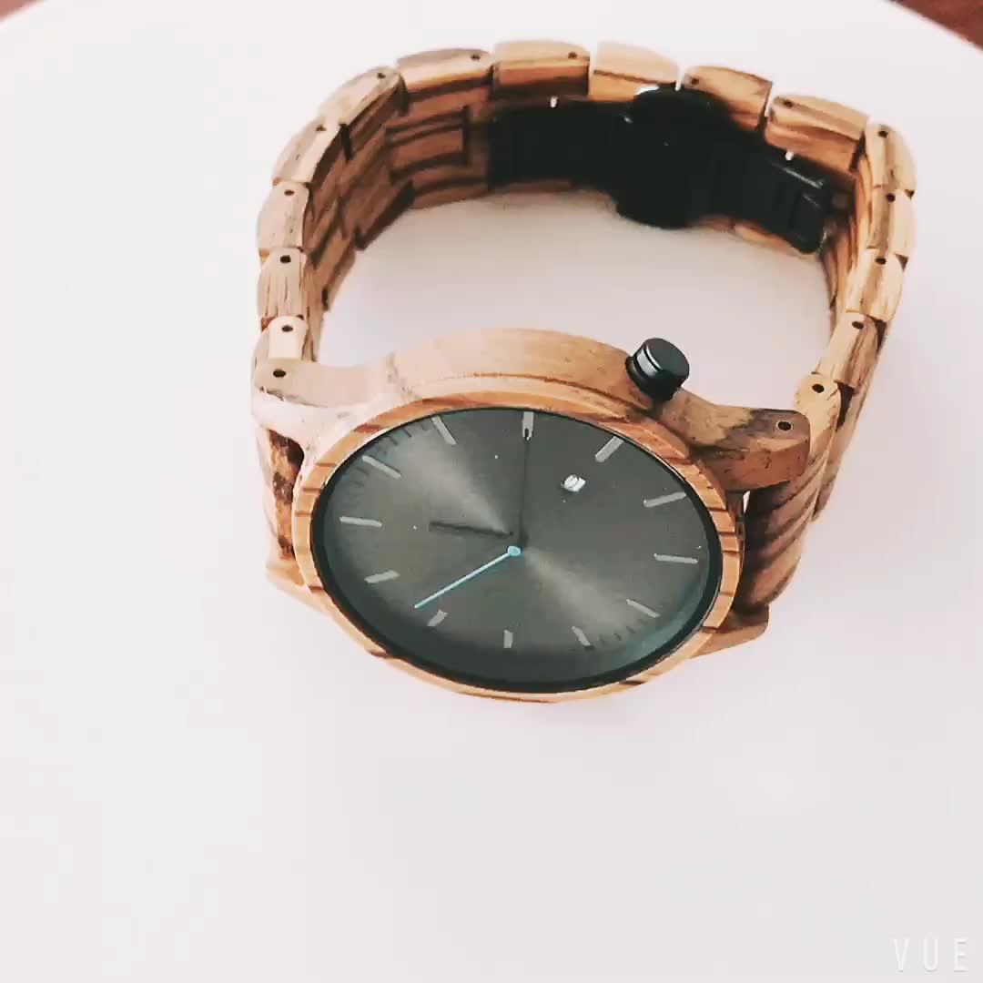 2018 fashion custom logo brand men women wrist wholesale wooden bamboo watch ,2 years quality assurance
