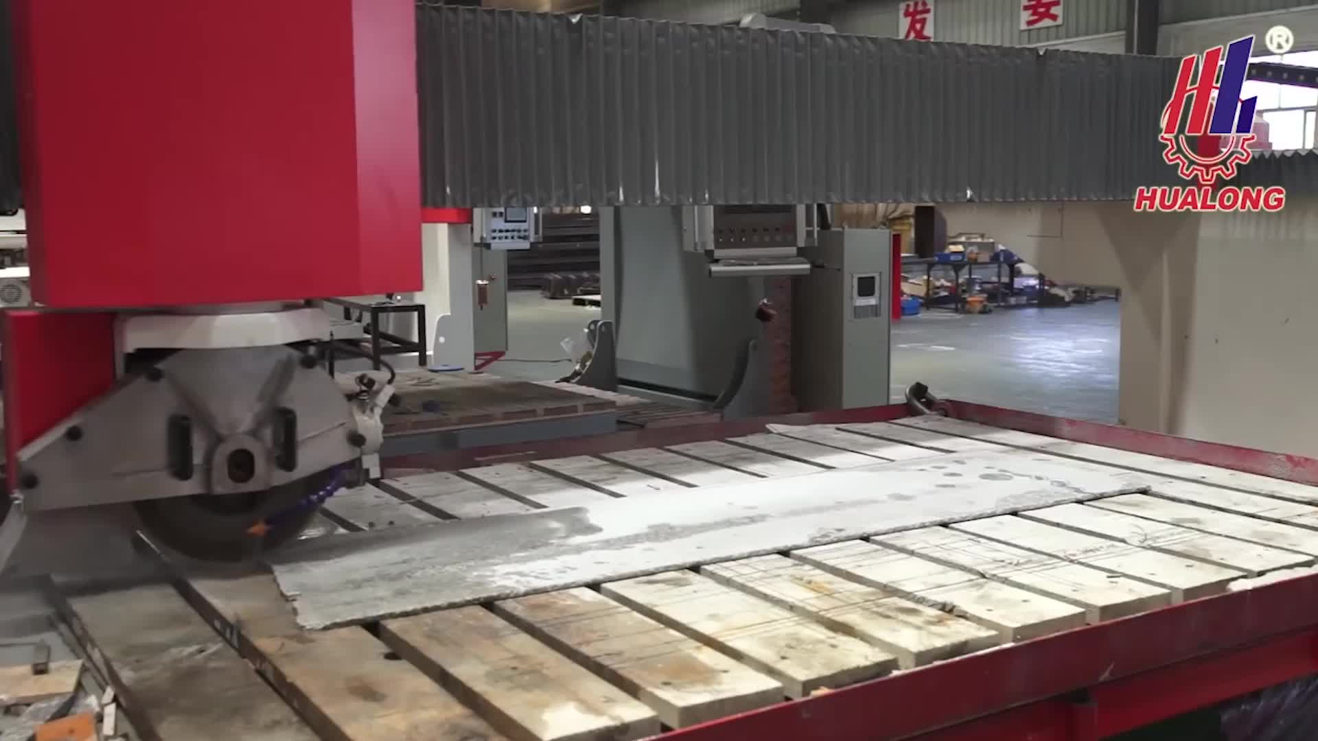 HUALONG stone machinery HSNC-500 countertop cutting saw Granite Slab Cutting Machine for granite marble quartz