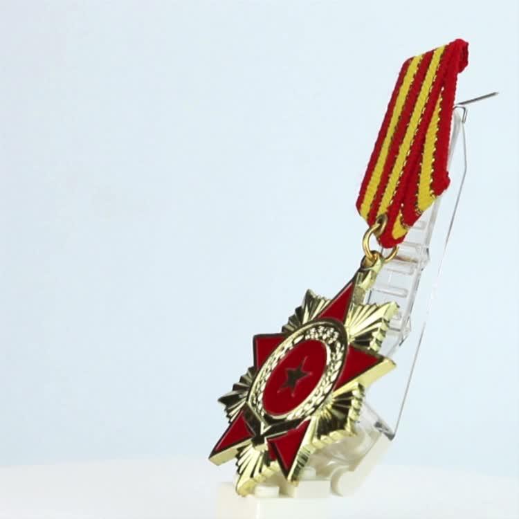 Novas lembranças Crachá Pinos de metal promocional em branco medalha militar, custom medalha militar emblema