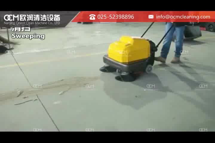 P100A Parking Lot Industrial Electric Hand Pushed Walk Behind Sweeper