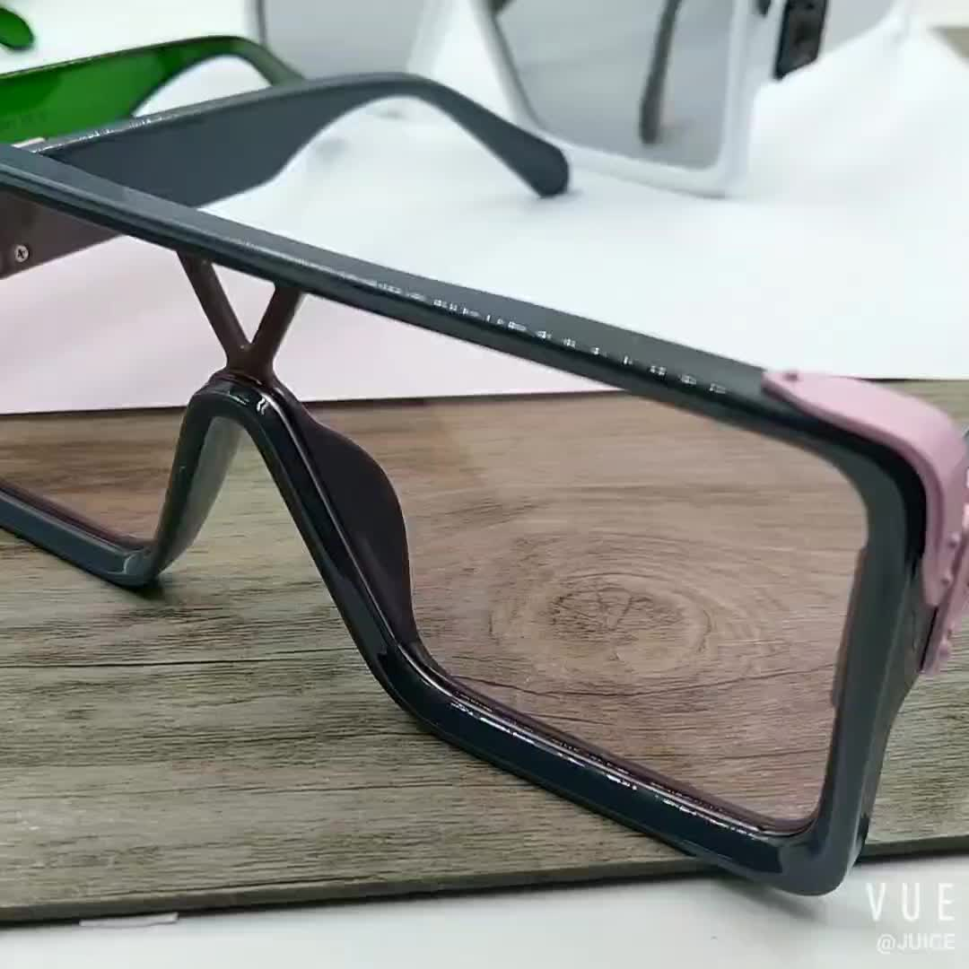 Fashion Cyberpunk Big Square Frame Trendy Oversized SunGlasses One Piece lens Shades Sunglasses for Women Men